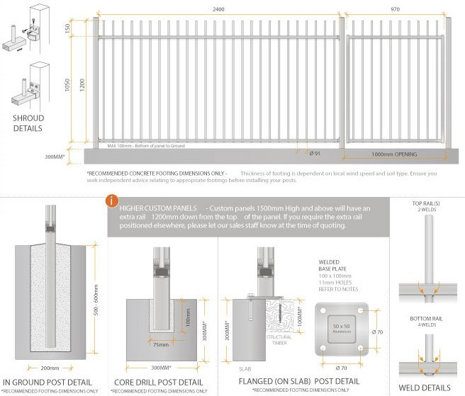 Aluminium Pool Fencing Picket Top Dog Gone Fencing