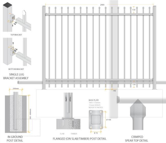 Aluminium Security Fence Dog Gone Fencing