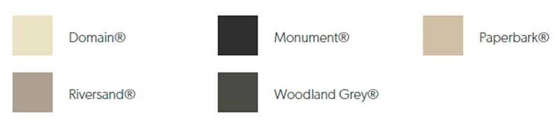 Colour Options for Slatscreen