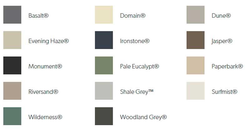 Colour Options for NeetaScreen and SmartScreen