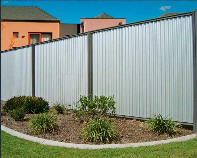 Corrugated Boundary Fence Dog Gone Fencing